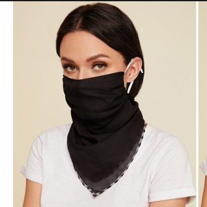 New Black Neckerchief Face Mask